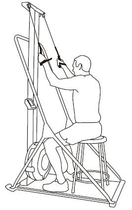 SkiErg Technique Variation Wheelshair